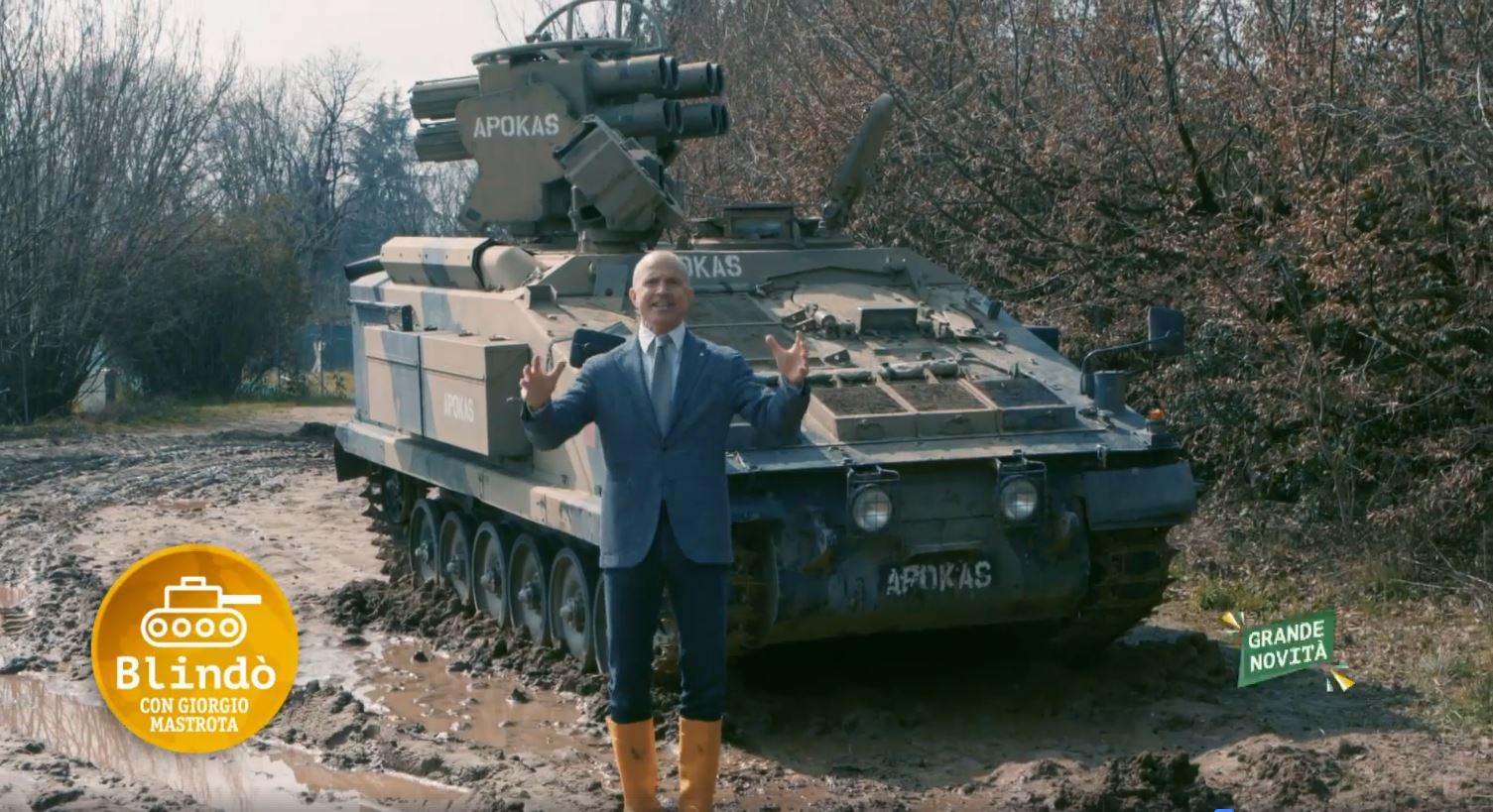 giorgio mastrota carro armato